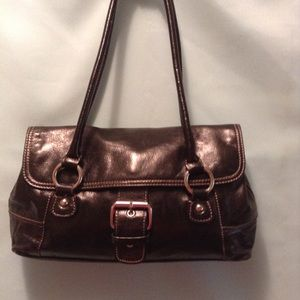 GIANI BERNINI GENUINE LEATHER SHOULDER HANDBAG